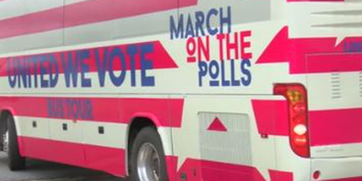 Weekend-long bus tour stops in Columbus to encourage early voting