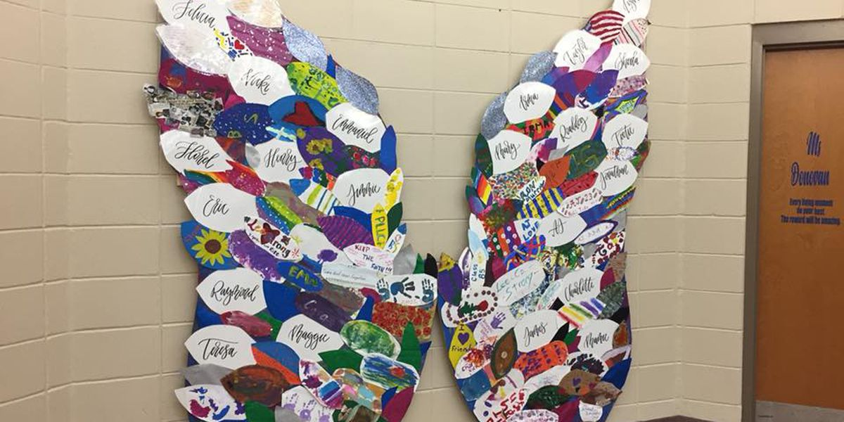 Angel wings honor March 3 storm victims at Lee County school