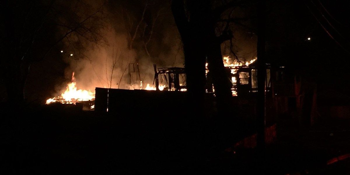 Fire on 25th Street in Columbus destroys home