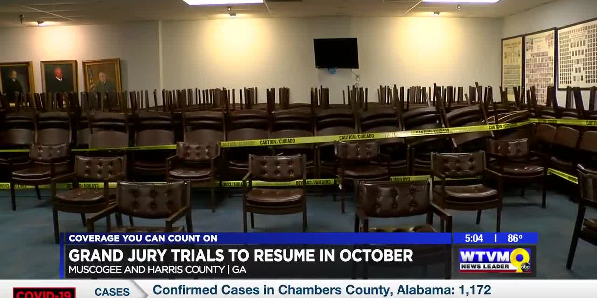 Grand jury trials resuming in Muscogee, Harris counties in October