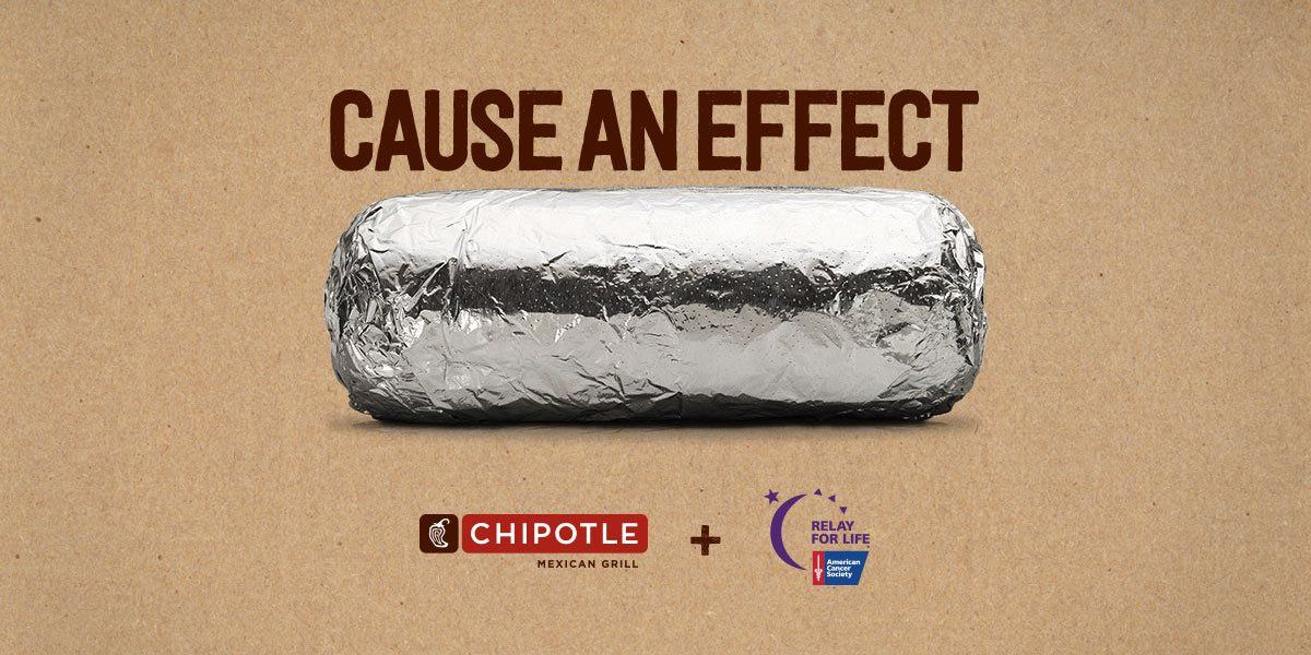 Chipotle donating portion of Wednesday sales to Relay for Life