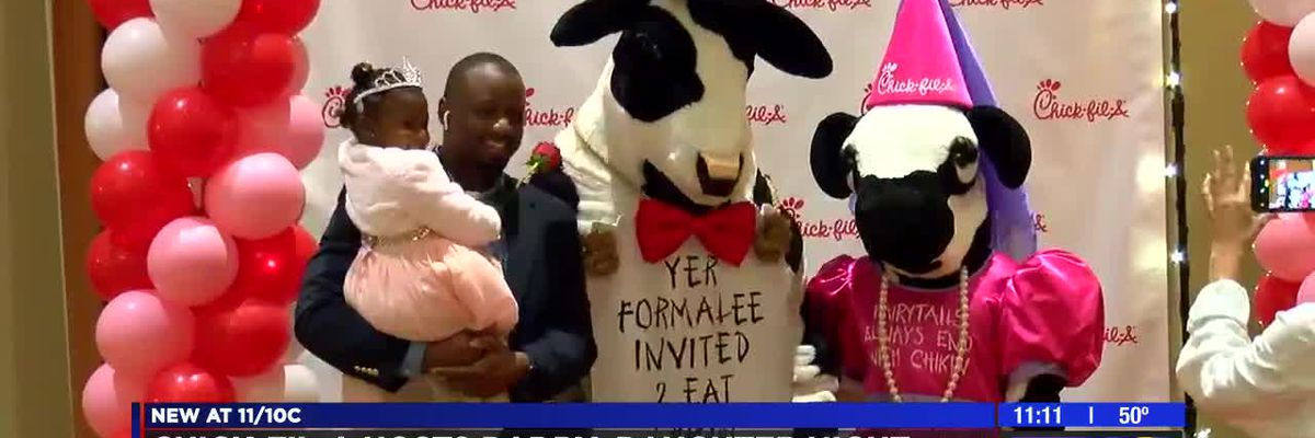 Chick-fil-A restaurants in Columbus and Phenix City host Daddy-Daughter Date Night