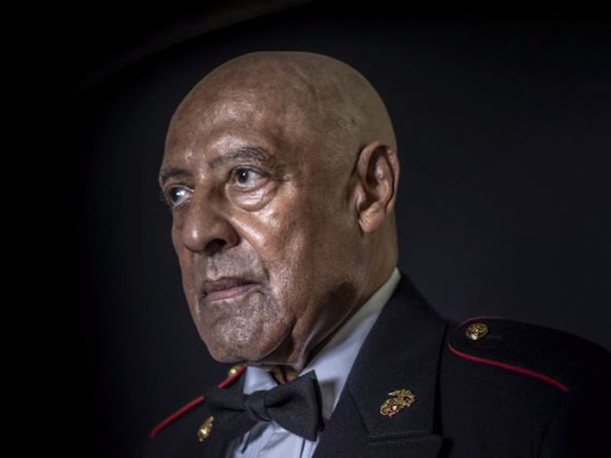 Medal of Honor awarded to Sgt. Maj. John Canley, who saved fellow Marines during Vietnam battle