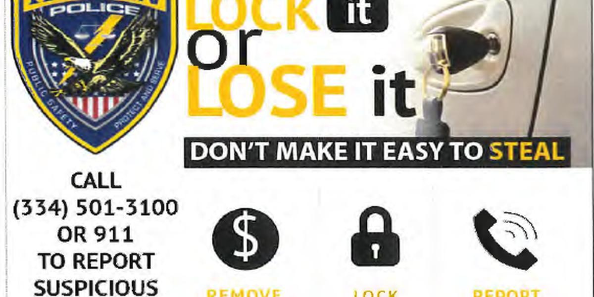 Auburn PD initiate 'Lock It or Lose It' campaign