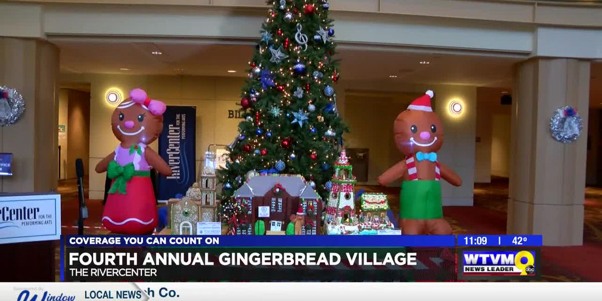 RiverCenter in Columbus hosts ribbon cutting for 4th annual gingerbread village