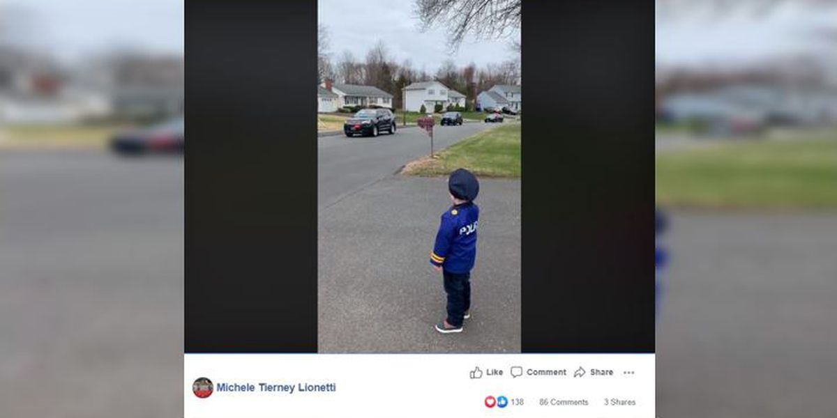 WATCH: No birthday party, no problem: Police lead drive-by parade for 5-year-old