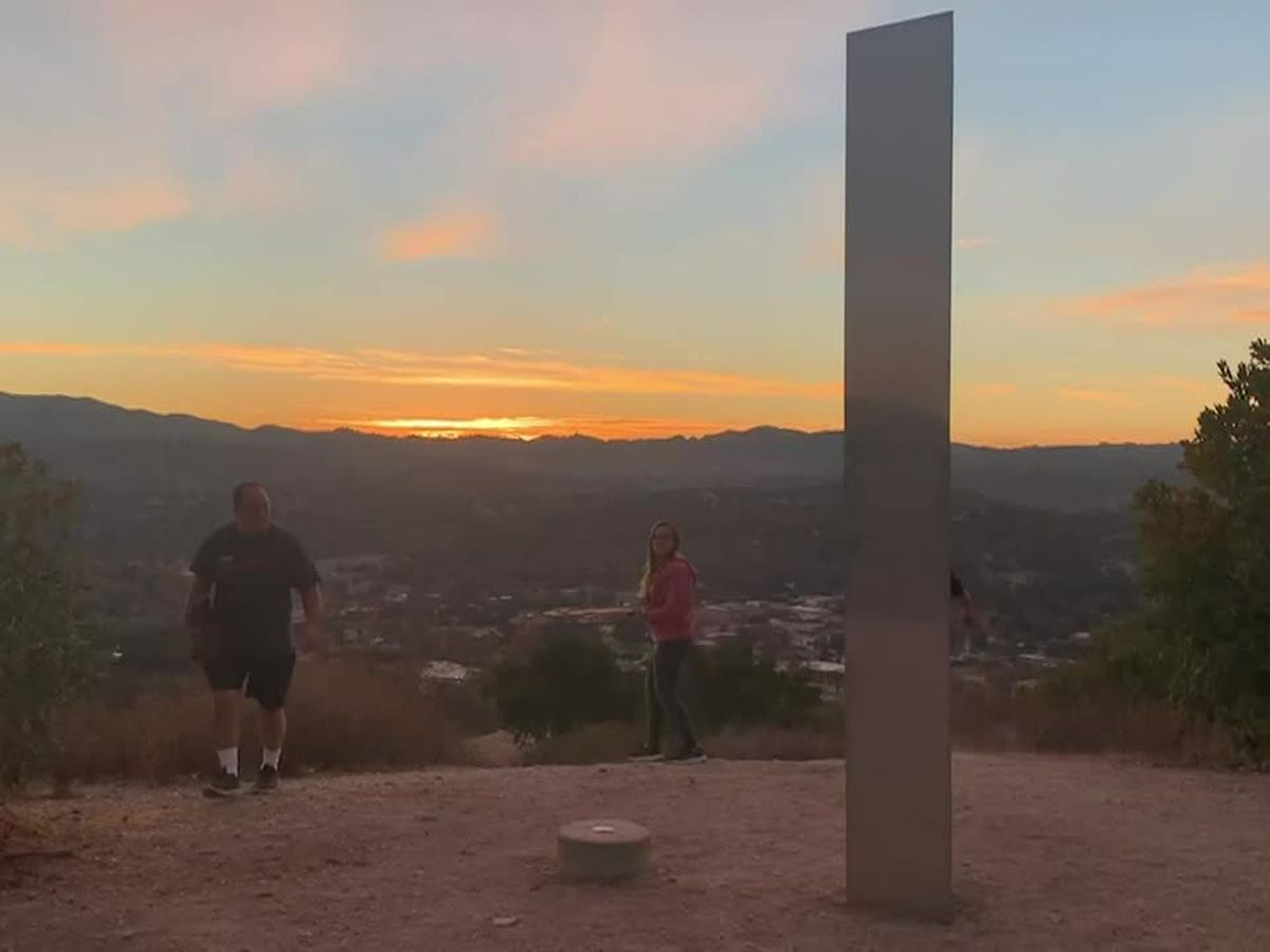 California monolith pops up after finds in Utah, Romania