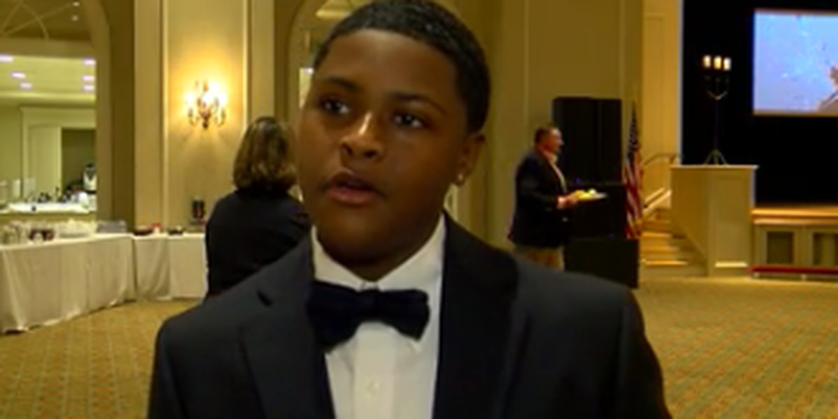 Columbus teen honored during the American Red Cross Hometown Heroes event