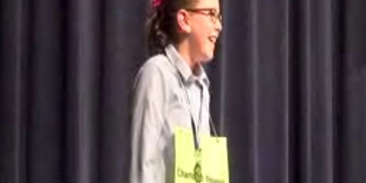 4th grader represents Brookstone in spelling bee competition