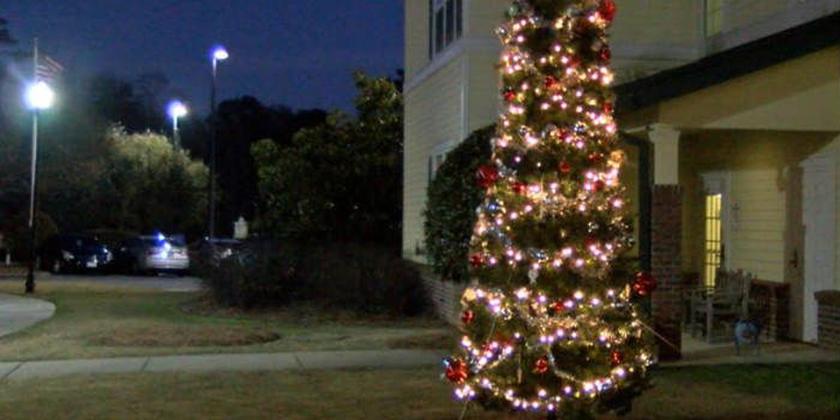 Columbus assisted living facility holds Christmas tree lighting