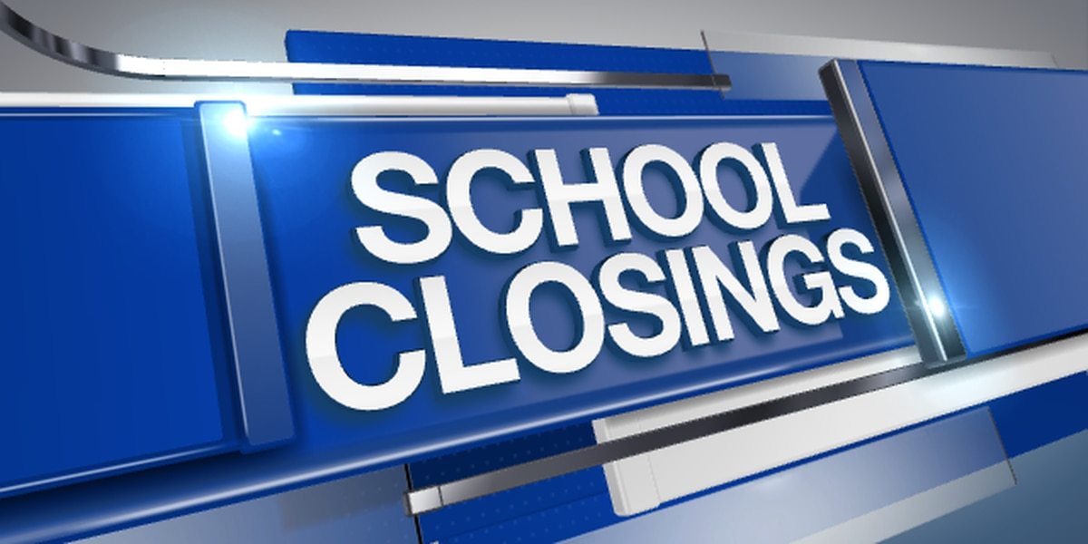 SCHOOL CLOSURES: Some schools closing, changing schedules due to impact of Tropical Storm Zeta