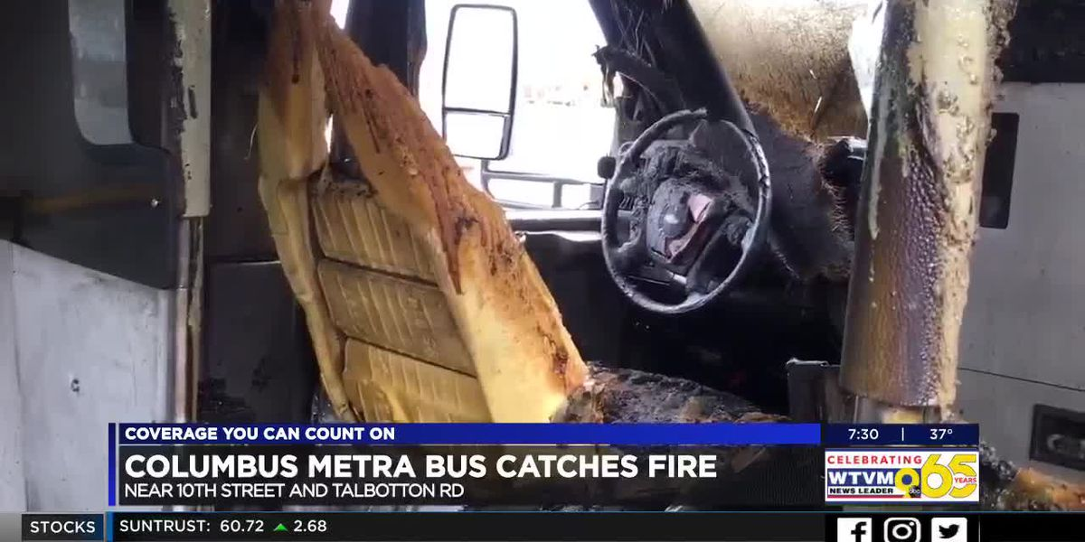 Columbus Metra bus catches fire