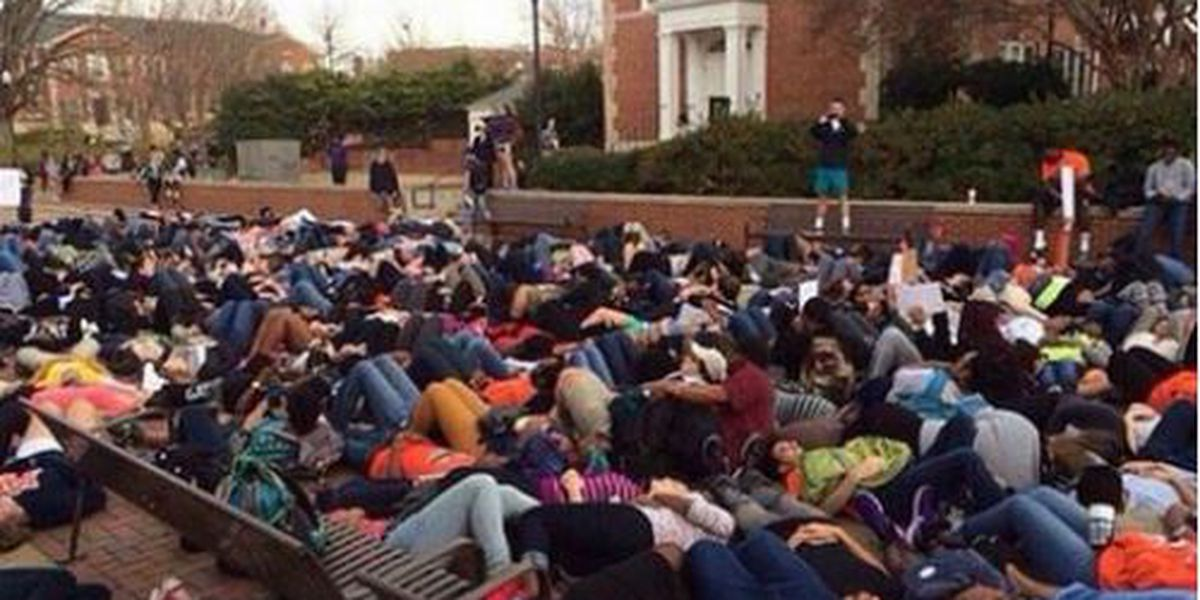 Auburn University students join peaceful protests