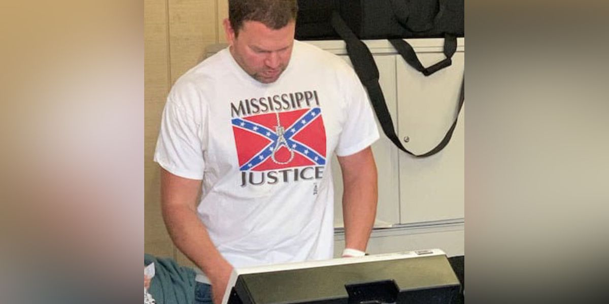 Hospital employee fired after photo of him wearing 'Mississippi Justice' T-shirt while voting goes viral