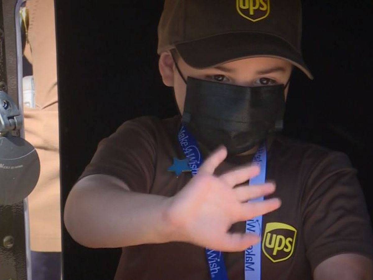 Boy, 6, realizes dream of being UPS driver after battle with cancer