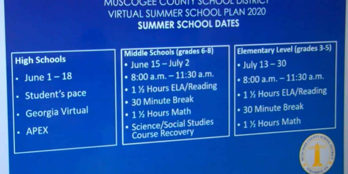 MCSD lays out plans for summer school