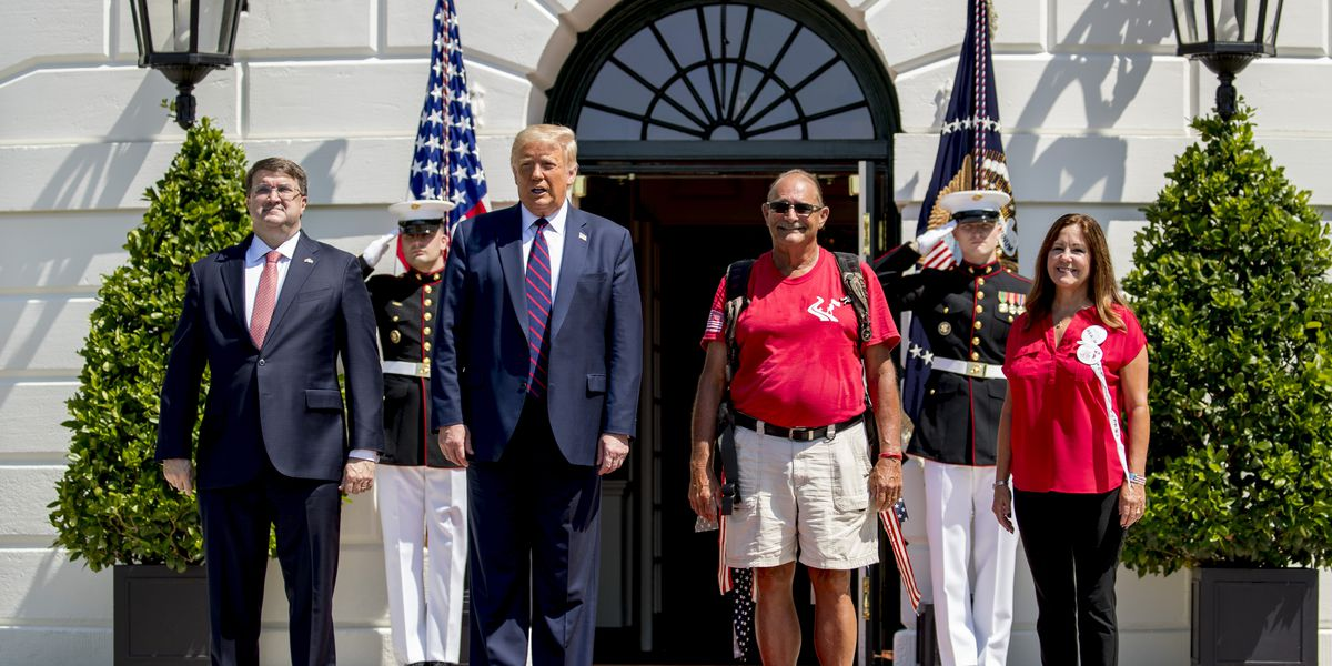 Trump welcomes 'The Walking Marine' to White House