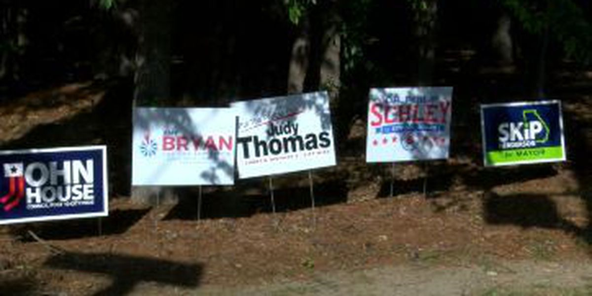 Lakebottom residents frustrated with 'overflow' of campaign signs in the area