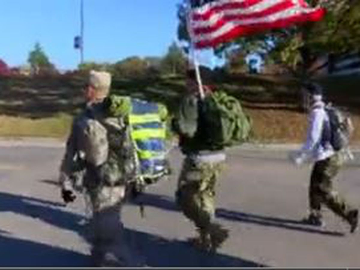 AL veterans start 150 mile ruck march to spread message about suicide prevention