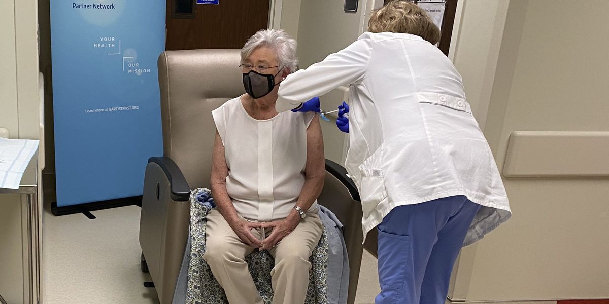 Gov. Ivey gets second dose of COVID-19 vaccine