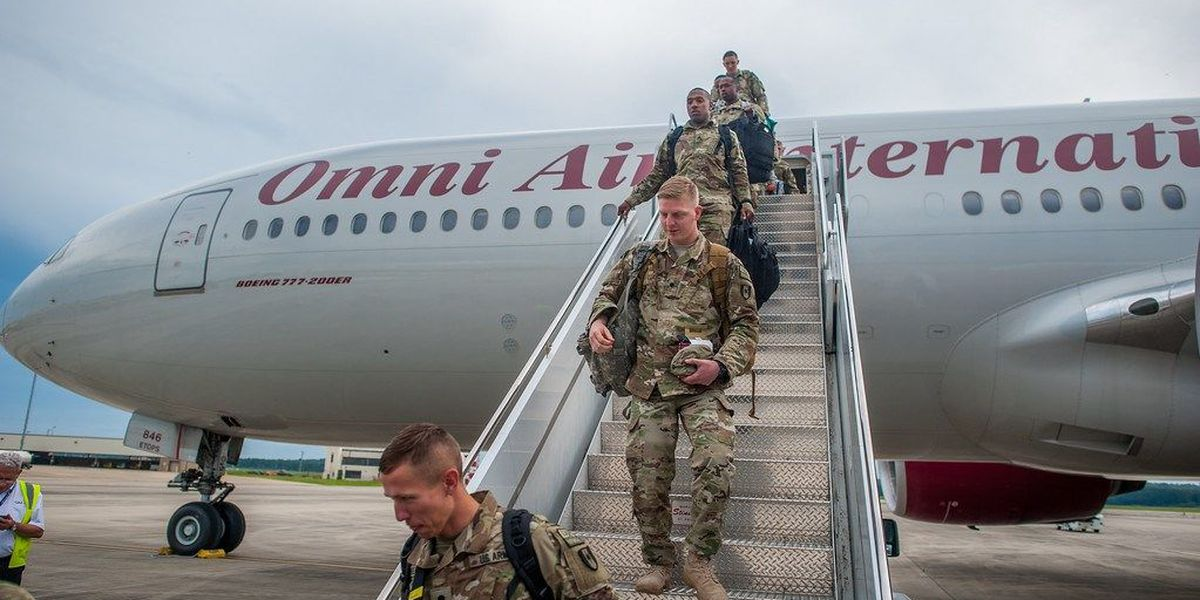 Soldiers from 14th Combat Support Hospital return from deployment