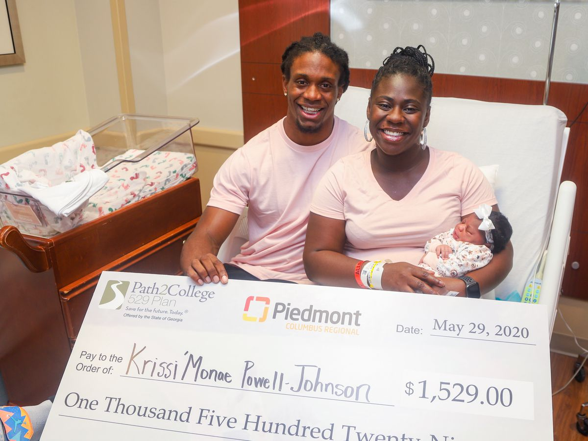 Baby born at Piedmont Columbus Regional Hospital awarded contribution toward college savings