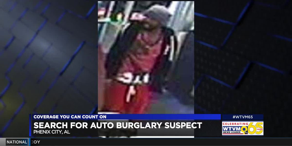 Suspect wanted in Phenix City for auto burglary at downtown Troy University campus