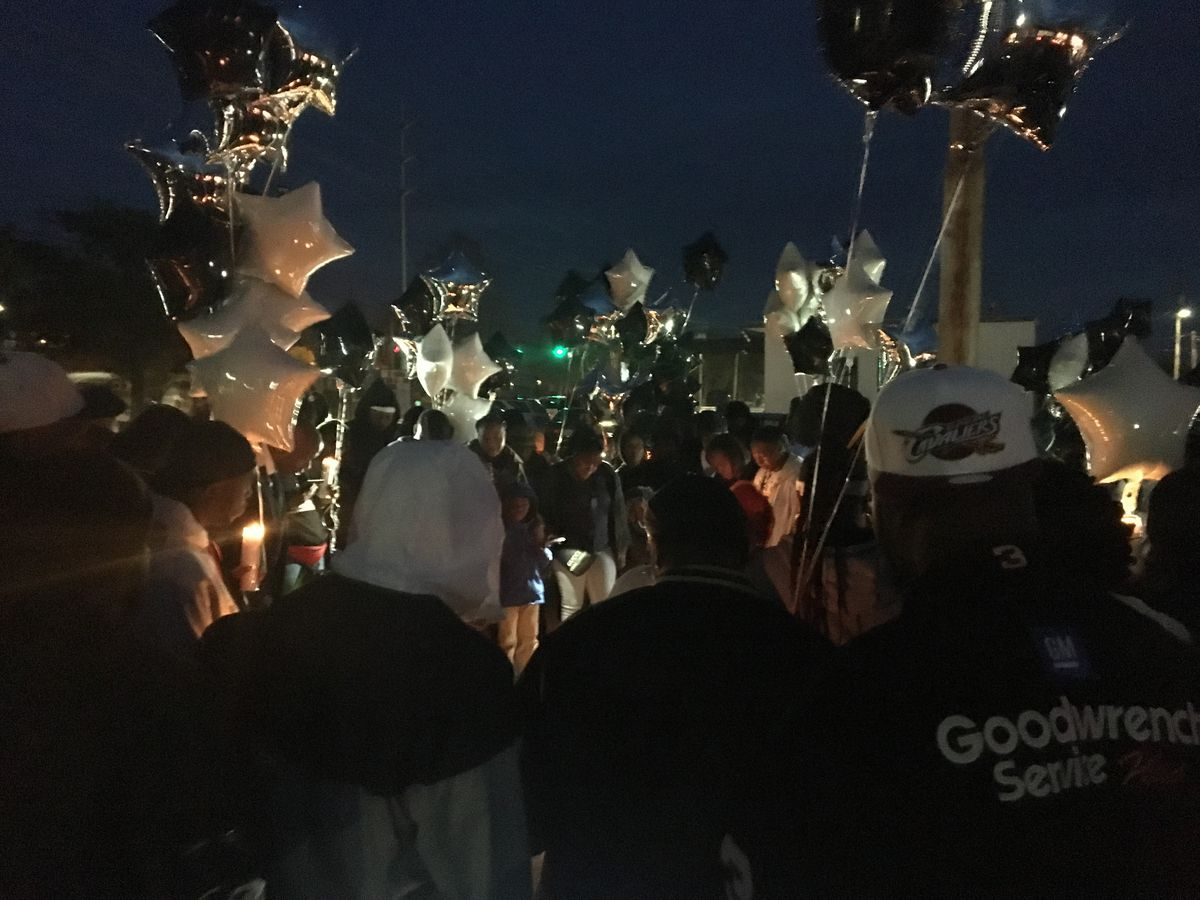 Community gathers for vigil in honor of Columbus man killed on MLK Jr. Blvd.