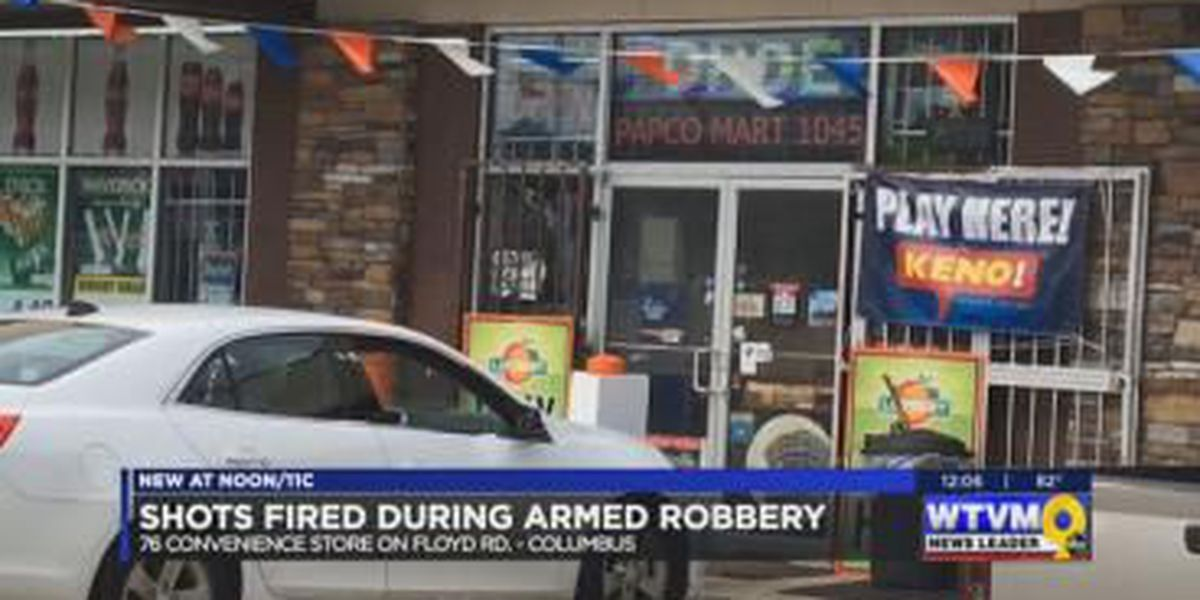 Shots fired during armed robbery on Floyd Rd. in Columbus