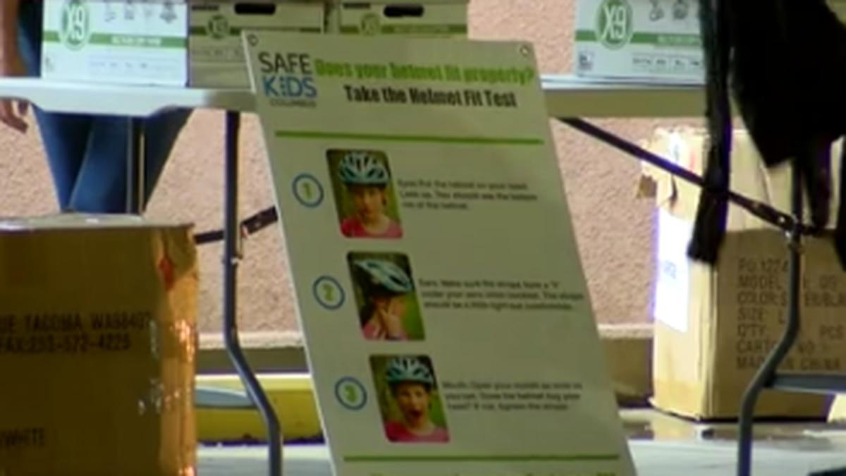 Safe Kids Columbus gives over 100 bike helmets to children in the community