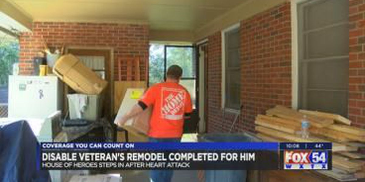 House of Heroes, Home Depot finish disabled veteran's home remodel