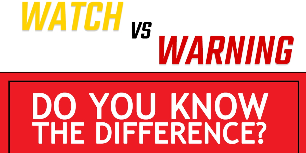Watch Vs. Warning - What's The Difference?