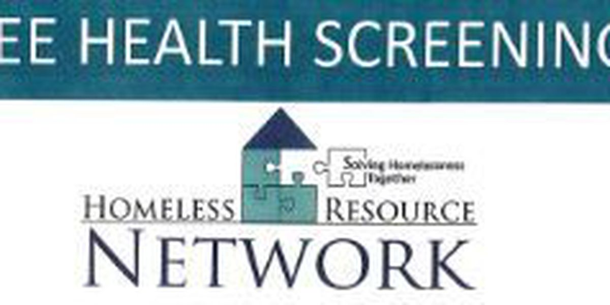Homeless Resource Network to offer free health screenings Wednesday