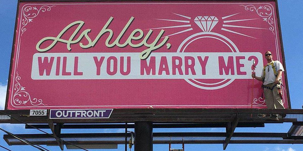SO SWEET: Phenix City man uses billboard to proposes to girlfriend